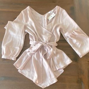 NWT Express Champagne Color Express Blouse